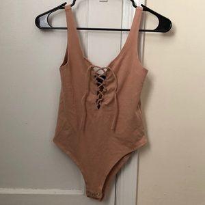 Lace Up Bodysuit (NWOT)